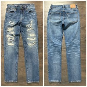 American Eagle Airflex Sz 30x32 Ripped Jeans